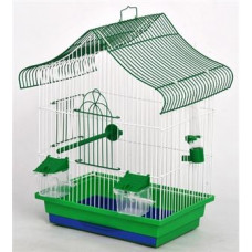 МИНИ-1 клетка для попугаев цинк 330х230х450