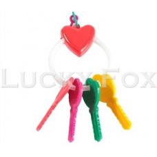Fox Игрушка для птиц ключи с сердечком на кольце BR-1