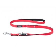 Ami Play Twist Поводок-перестежка (ширина 1см, длина 100-200 см) S красный