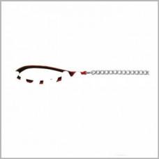 14023 Трикси Поводок-цепь с нейлоновой ручкой 1м/3мм красный