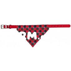 30903 Трикси Ошейник с косынкой M-L 43-55см/25мм красный