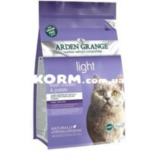 Арден Грендж беззерновой для взрослых кошек низкокалорийный Курица и картофель 2 кг